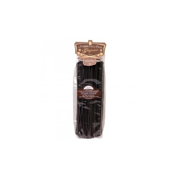 (送料無料・代引&同梱不可)ラ・ファッブリカ・デッラ・パスタ スパゲッティ・アル・ネーロ・ディ・セッピア(イカスミ) 16袋セット 6427