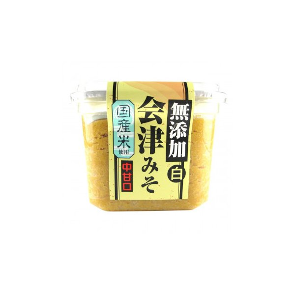 (送料無料・代引&同梱不可)会津天宝 会津みそ 無添加白 650g ×8個セット