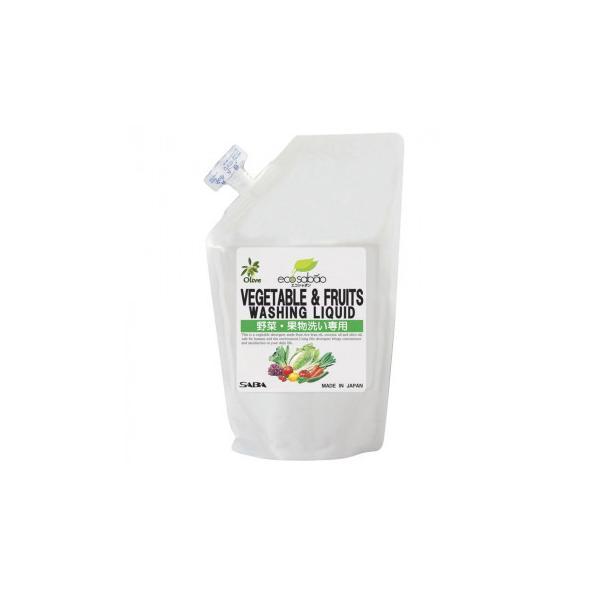 (送料無料・代引&同梱不可)SABA エコシャボン オリーブ 野菜・果物洗い専用洗剤 詰替用 330ml×40本 SB-830333