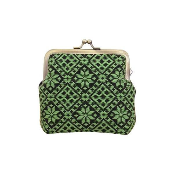 (送料無料)オリムパス 日本の伝統刺繍 こぎんキット がま口ポーチ 角型(黒) 39