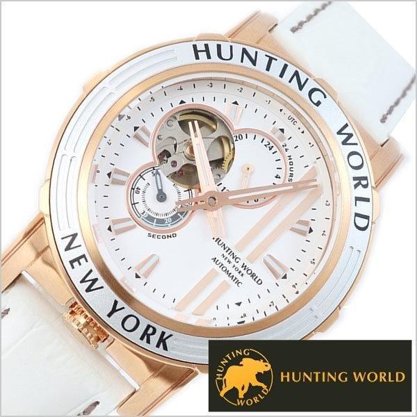 ハンティングワールド腕時計HUNTINGWORLD時計アディショナルタイムHW993WHメンズ