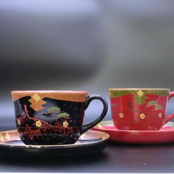会津塗・蒔絵のコーヒーカップ|htnetmall
