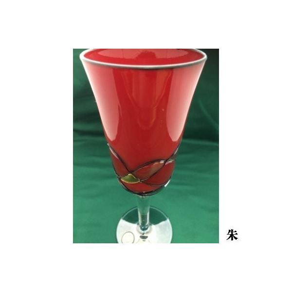 会津塗り ワイングラス (単品/朱・黒内朱)漆塗り硝子工芸品|htnetmall|03