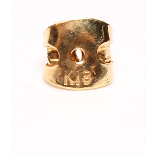美品 K18YG 黒蝶パール ドロップ 10mm スイングモチーフ クロチョウ真珠 ピアス レディース  中古