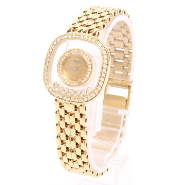 美品 ショパール 腕時計 ハッピーダイヤ 278375 クォーツ ダイヤベゼル chopard レディース  中古