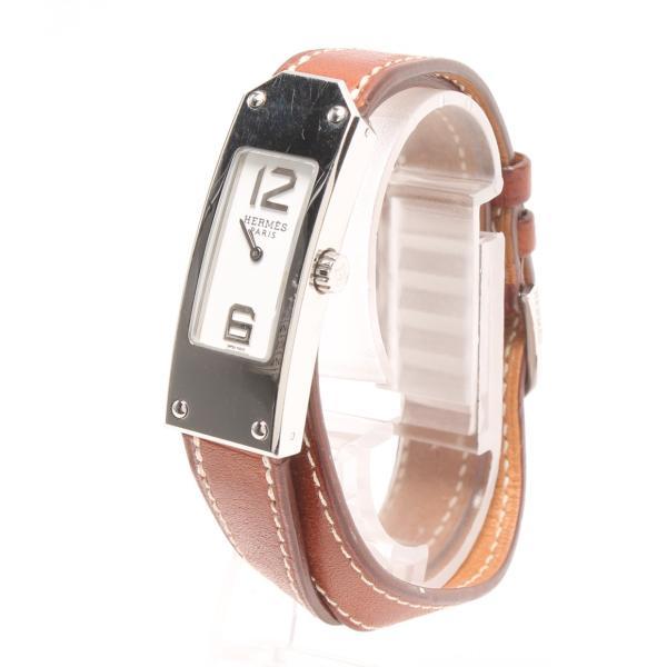エルメス ケリー2 □I刻(2005年式) KT1.210 クォーツ  腕時計 ケリー2 KT1.210 .130 クオーツ ホワイト HERMES レディース  中古