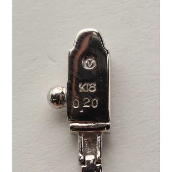 美品 ヴァンドーム ダイヤ 0.20ct ブレスレット K18 VENDOME レディース  中古