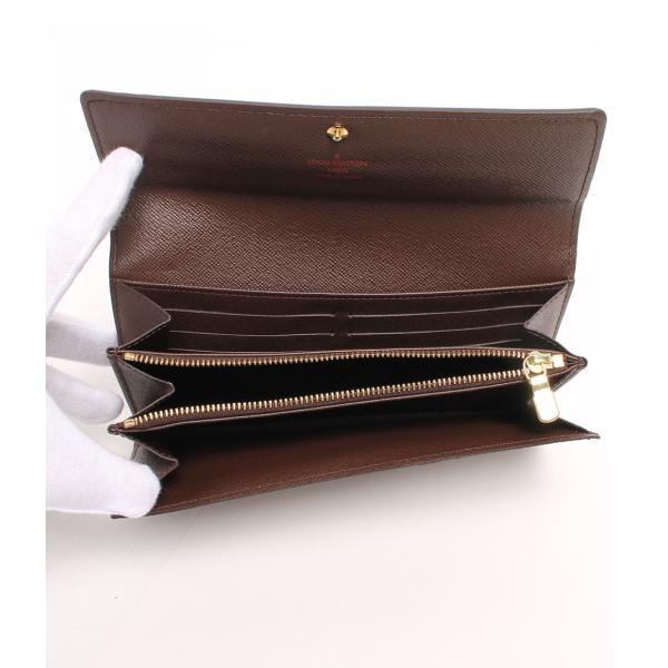美品 ルイヴィトン 長財布 ポルトフォイユ サラ ダミエ N61734 Louis Vuitton レディース  中古