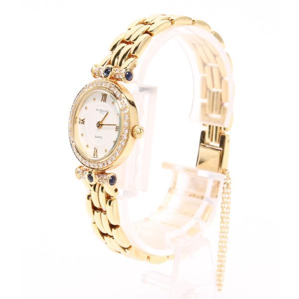 ルビアント 腕時計 18K(750) ダイヤ付き クォーツ ホワイト WAPL-94-010 レディース rubiant 中古