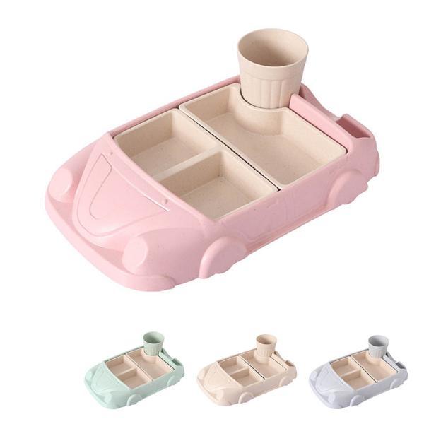 キッズ食器 ランチプレート 竹繊維製 食器 軽量 かわいい ご飯 食事 子供 入学準備 かわいい