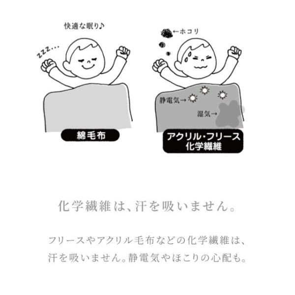 はぐまむ 綿毛布 シングル 無添加 日本製 三河木綿 200×130 hugmamu2 06