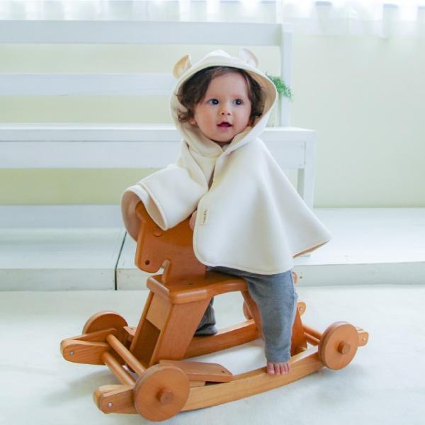 はぐまむ 綿毛布 ポンチョ マント ベビー 無添加 日本製 着る毛布 赤ちゃん 子供|hugmamu2|13