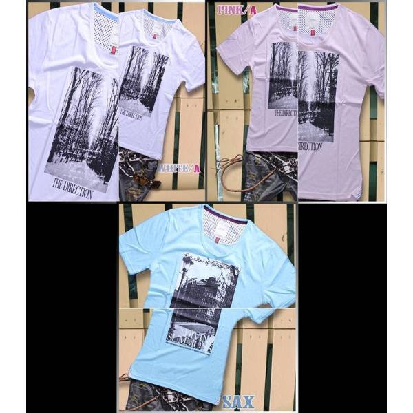 カットソー メンズ 黒 白 水色 緑 黄色 Tシャツ トップス|hukudokoro|02