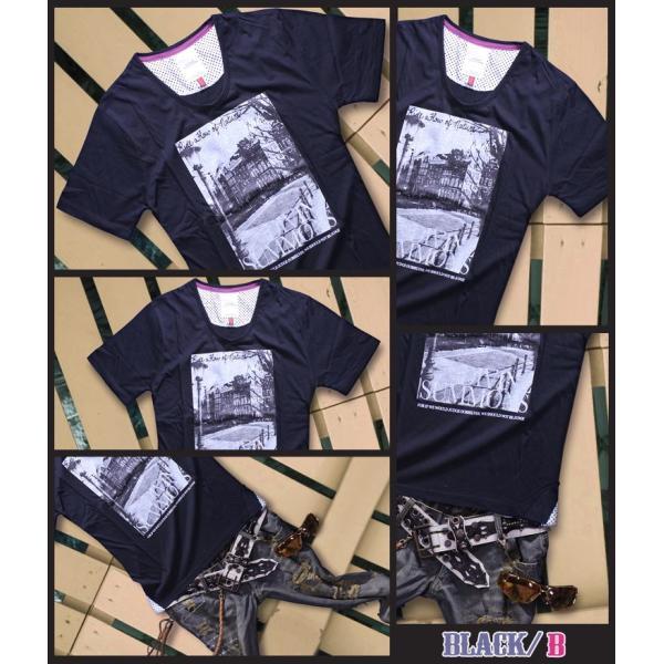 カットソー メンズ 黒 白 水色 緑 黄色 Tシャツ トップス|hukudokoro|03