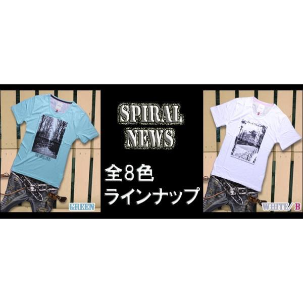 カットソー メンズ 黒 白 水色 緑 黄色 Tシャツ トップス|hukudokoro|08