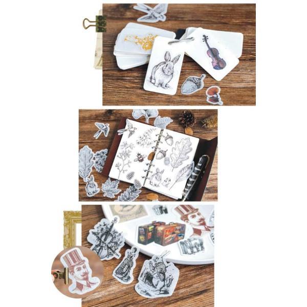 アンティーク調 デコ ステッカー シール DIY デコパージュ デコレーション ラッピング ヴィンテージ プレゼント 植物 980325|humming-f|08