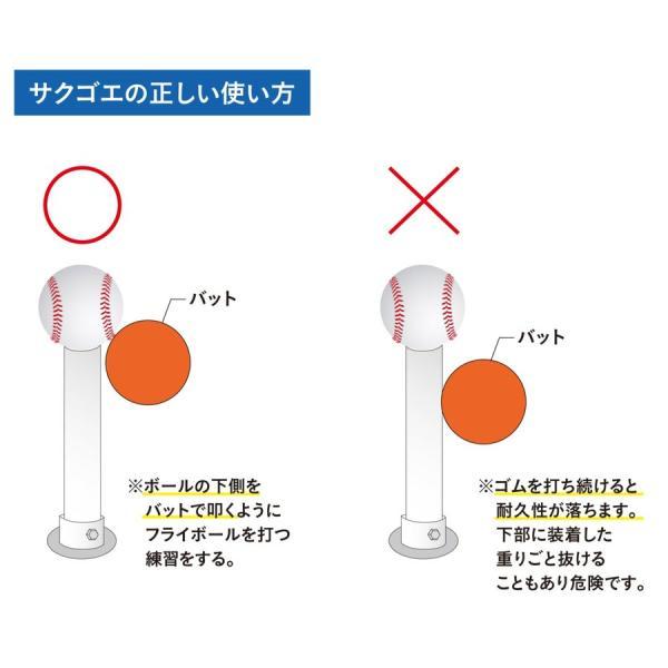 野球 バッティングティー スタンド 硬式 軟式 ソフトボール ホームランバッターを育てるティーバッティング(ティースタンド)『サクゴエ PUT式(ver.7)』×3本 hung 12