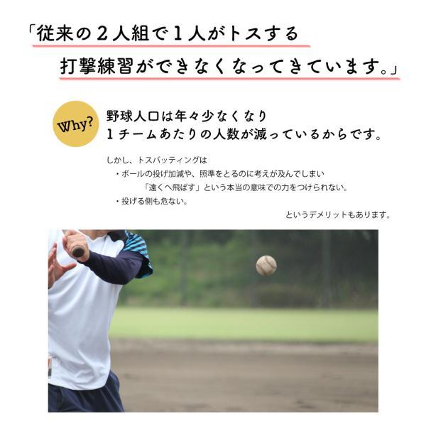 野球 バッティングティー スタンド 硬式 軟式 ソフトボール ホームランバッターを育てるティーバッティング(ティースタンド)『サクゴエ PUT式(ver.7)』×3本 hung 04
