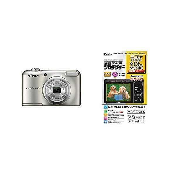Nikon デジタルカメラ COOLPIX A10 シルバー 光学5倍ズーム 1614万画素 乾電池タイプ A10SL+Kenko 液晶保護