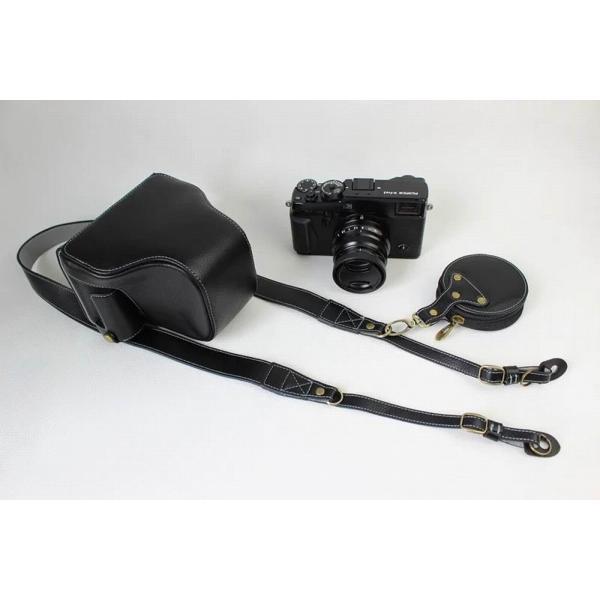 Fujifilm X-Pro2 X-Pro 2 X Pro2 ケース 本革カメラーケース、Koowl手作り表面牛革カメラケース、富士 X-P|huratto|02