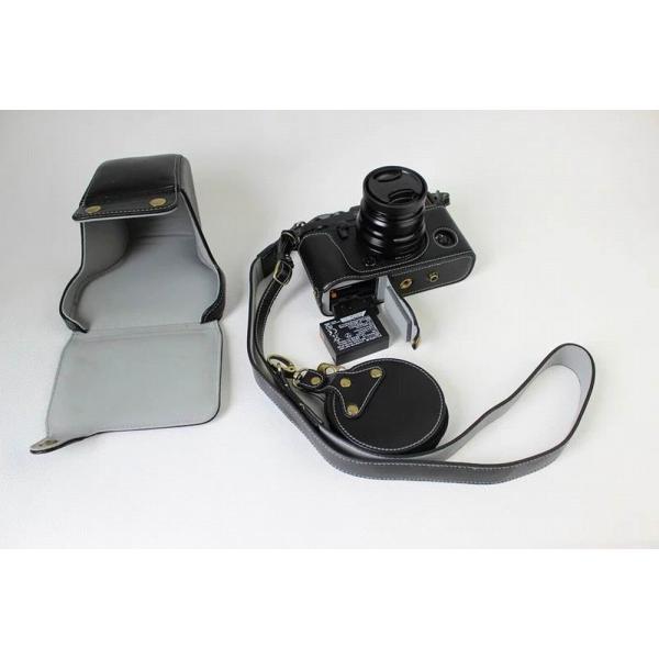 Fujifilm X-Pro2 X-Pro 2 X Pro2 ケース 本革カメラーケース、Koowl手作り表面牛革カメラケース、富士 X-P|huratto|05