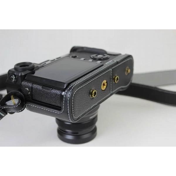 Fujifilm X-Pro2 X-Pro 2 X Pro2 ケース 本革カメラーケース、Koowl手作り表面牛革カメラケース、富士 X-P|huratto|10