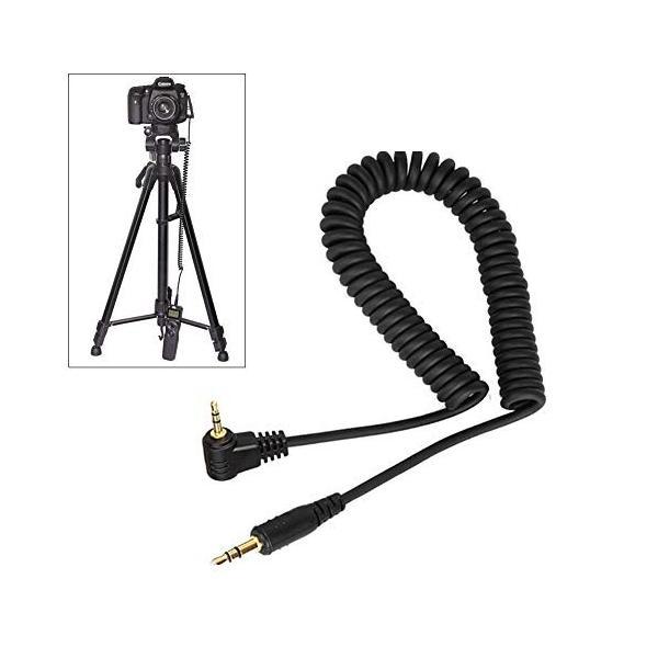 PIXEL 3.5mm シャッターケーブル レリーズ 延長コード コイル式 PIXEL TW-283 T3リモコン対応 Canonカメラ用