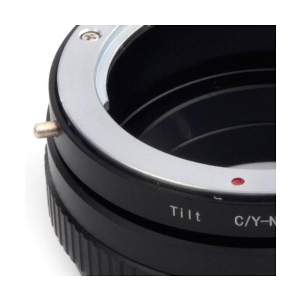 (バシュポ) Pixco マウントアダプター コンタックス ヤシカ CYマウントレンズ-ソニーNEX E シリーズカメラ対応 チルトCY-N