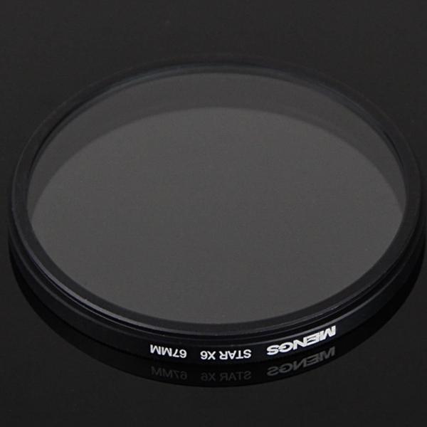 MENGS 67mm 6 芒星 アルミフレーム付きレンズフィルター,ユニバーサル カメラ と ビデオカメラDV用