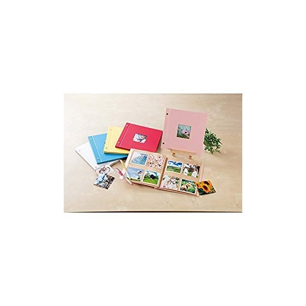 SEKISEI アルバム ポケット ハーパーハウス ましかくアルバム フレーム 80枚収容 51~100枚 レッド XP-8910|huratto