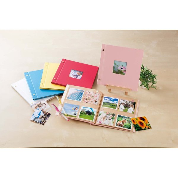 SEKISEI アルバム ポケット ハーパーハウス ましかくアルバム フレーム 80枚収容 51~100枚 レッド XP-8910|huratto|03