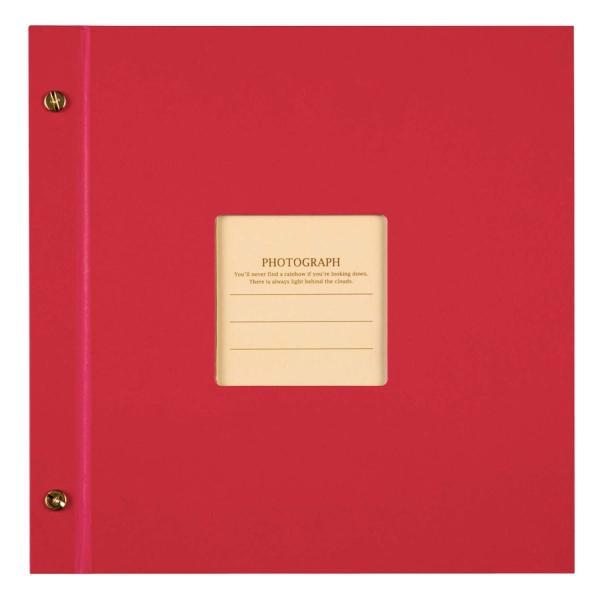 SEKISEI アルバム ポケット ハーパーハウス ましかくアルバム フレーム 80枚収容 51~100枚 レッド XP-8910|huratto|05