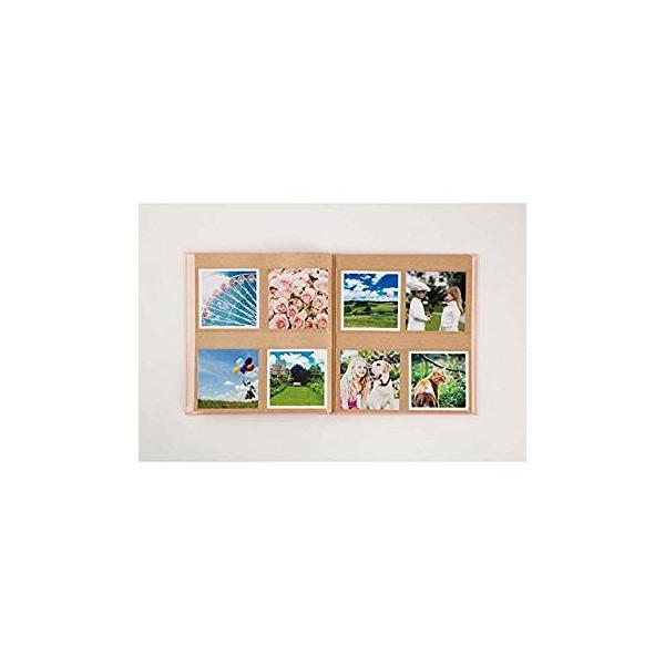 SEKISEI アルバム ポケット ハーパーハウス ましかくアルバム フレーム 80枚収容 51~100枚 レッド XP-8910|huratto|06
