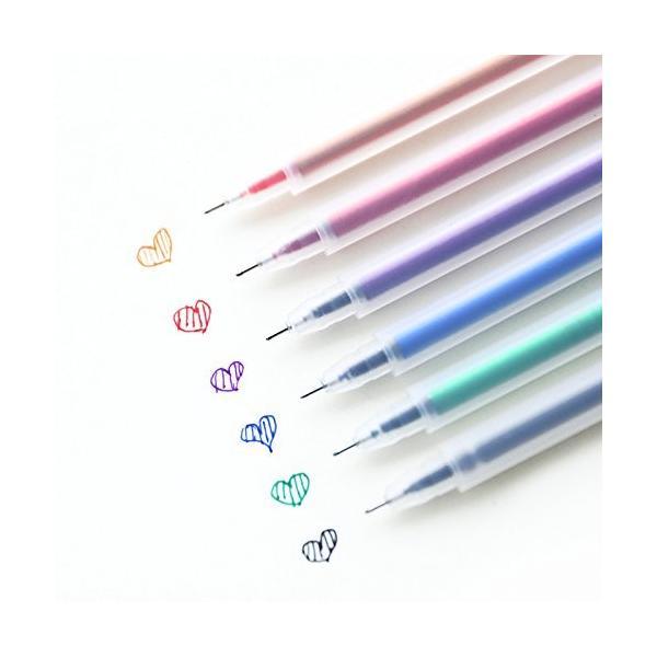 KINGZUO 水性ジェルボールペン カラーペン 塗りカラーペン 蛍光ペン 0.05mm線幅 6本6色セット 人気 文房具 オフィス用品 学生女子 筆|hyakushop