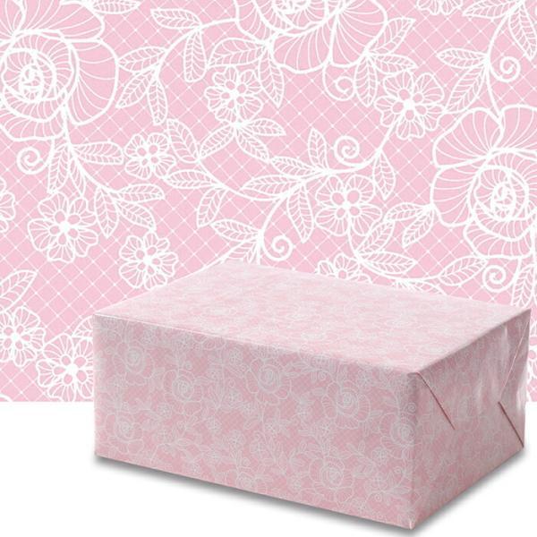 包装紙 ローズレース ピンク 四六1/2 50枚日本製 高品質 包装紙 インテリア イベント かわいい プレゼント ギフト 業務用 冠婚葬祭 お歳暮 お中元 持ち帰り オ…