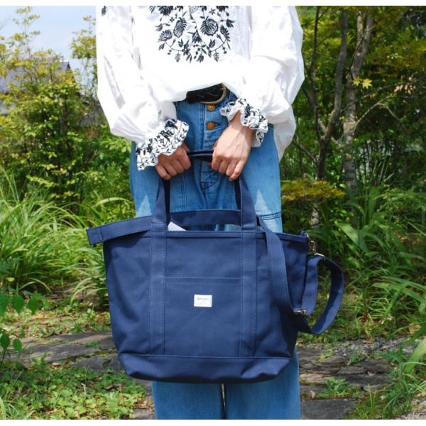 ショルダー付き キャンバス トートバッグ 単色 Lサイズ