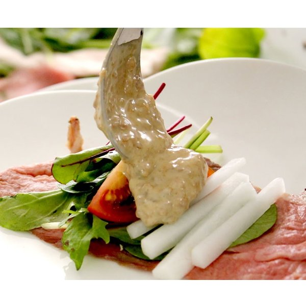 「肉料理かやま」そぼマヨ(牛そぼろマヨネーズソース 3種 プレーン/カラシ/プレミアム・プレーン) hyogo-tokusanhin 09