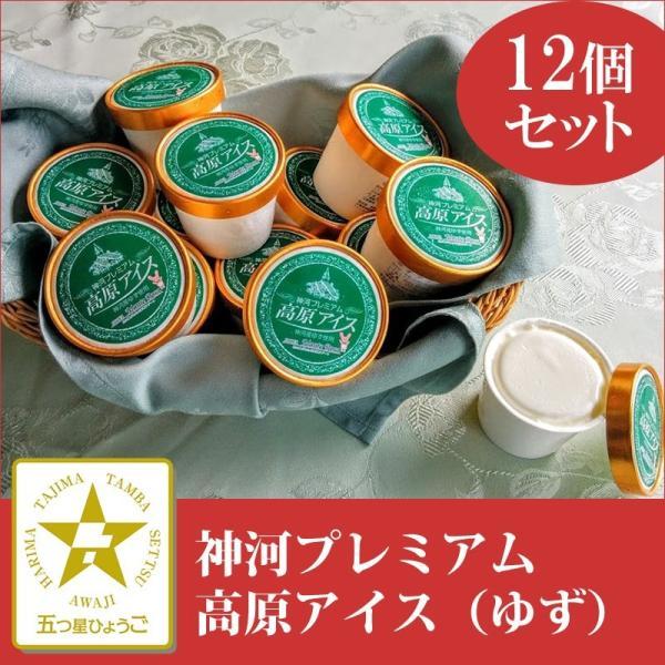 「ホテルモンテローザ」神河プレミアム 高原アイスゆず 12個セット(冷凍)|hyogo-tokusanhin