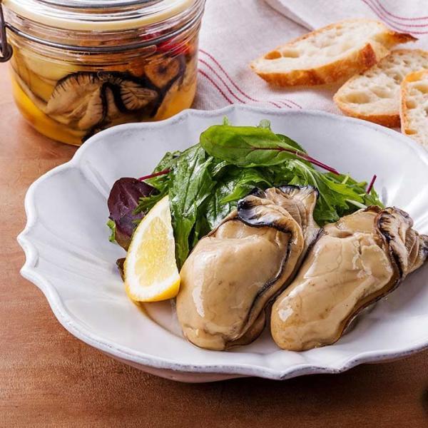 大槌の牡蛎燻製《にんにくオイル》ミニ 〜岩手・三陸産直カキなどとっておきのオイスターを贅沢スモークに。ご自宅用・ご贈答用に|hyotanjima-tomaya|05