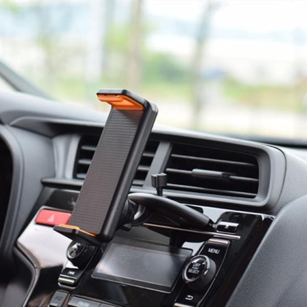 車載ホルダー タブレッドホルダー CDスロット スマホホルダー 4-12インチ対応 360度回転 USBケーブルの整理 ipad 2色|hyp358|10