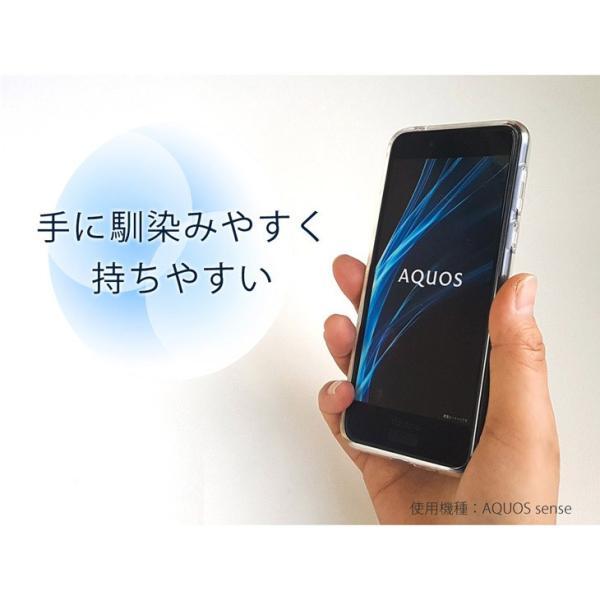 Hy+ らくらくスマートフォン me F-03K TPU透明クリアケース (背面ドット加工、クリーニングクロス付き)|hyplus|03