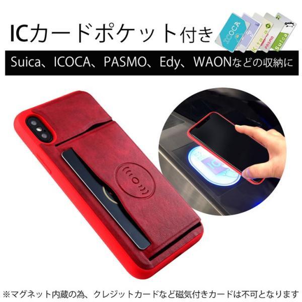 iPhoneX ケース ICカード収納 車載 カーマウント カバー(電波干渉防止シート付き) スタンド機能 レザー製 おしゃれ スマホケース hyplus 02