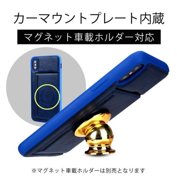 iPhoneX ケース ICカード収納 車載 カーマウント カバー(電波干渉防止シート付き) スタンド機能 レザー製 おしゃれ スマホケース hyplus 03