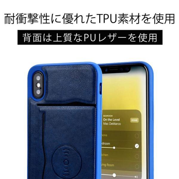 iPhoneX ケース ICカード収納 車載 カーマウント カバー(電波干渉防止シート付き) スタンド機能 レザー製 おしゃれ スマホケース hyplus 05