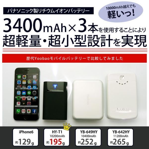 Yoobao 大容量モバイルバッテリー(スマホ充電器) 10200mAh HY-T1 (パナソニック製電池搭載、5つの安全機能付き)|hyplus|06
