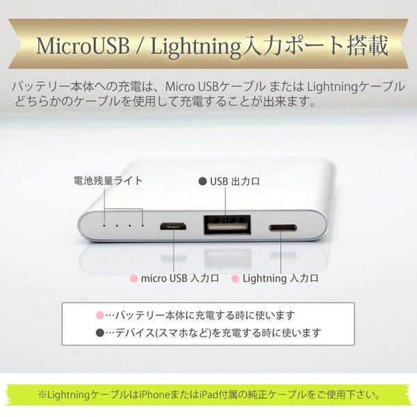 Yoobao 超薄型モバイルバッテリー 急速充電対応モデル 4000mAh HY-SL1 (Lightning入力ポート搭載、5つの安全機能付き)|hyplus|03