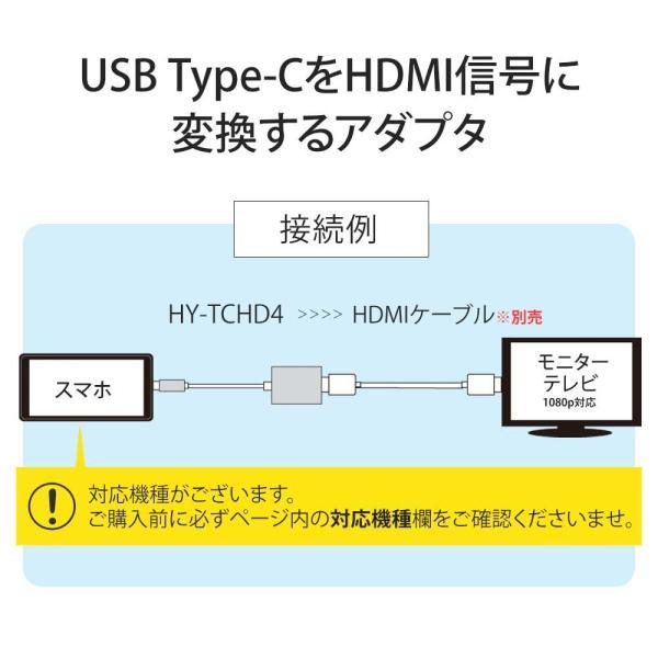 Hy+ Type-C to HDMI 変換アダプター HY-TCHD4 4K映像対応(Xperia1 Galaxy S10 S10+ S9 S9+ S8 S8+ Huawei P20 P20 Pro対応) ブラック|hyplus|02
