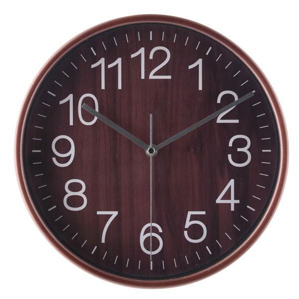 壁掛け時計 プライウッド 掛時計 28cm ブラウン ウォールクロック デザインウォールクロック おしゃれ時計 掛け時計 時計 とけい クロック シンプル|hypnos|02
