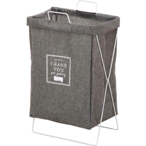 ランドリーボックス 横型取手付  グレー マルチ収納ボックス ランドリーバスケット 洗濯カゴ 収納 折り畳み