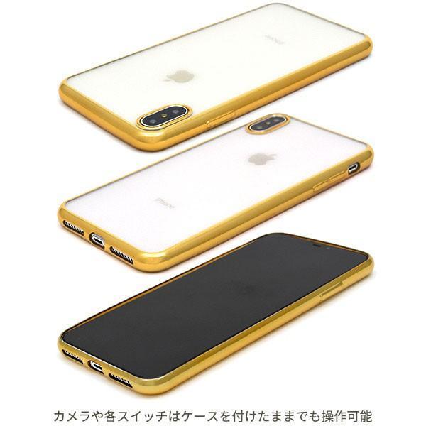 iphone XS Max ケース iphone xs ケース アイフォンxs ケース メタリックバンパーソフトクリアケース 透明 ケース 耐衝撃 ソフトケース カバー hypnos 02